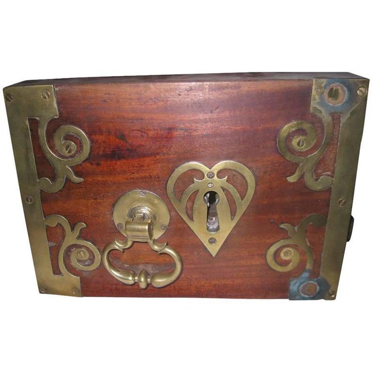 18th Century Georgian Decorative Heart Lock Mechanism