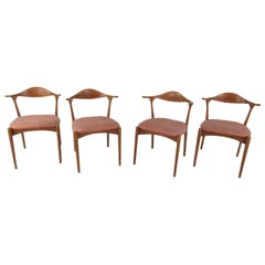 Danish Modern Cow Horn Style Dining Chairs