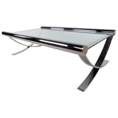 Mid-Century Chrome Coffee Table