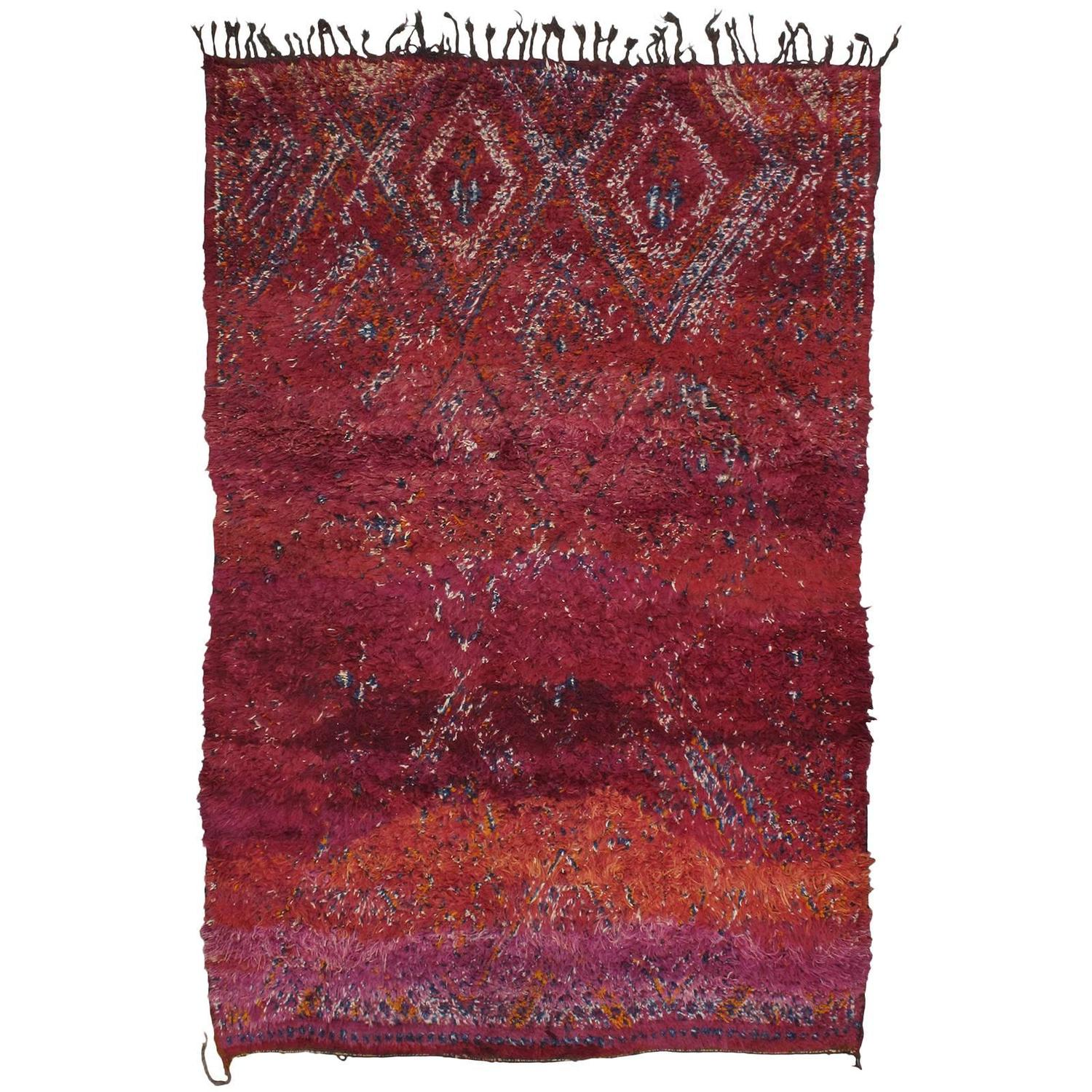 Moroccan Boucherouite Rug For Sale At 1stdibs: Beni Mguild Moroccan Berber Rug For Sale At 1stdibs