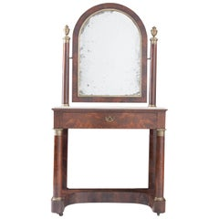 French 19th Century Empire Mahogany Dressing Table