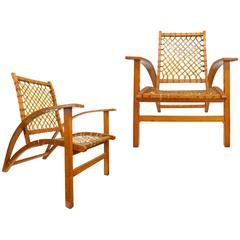 "Pair of ""Sno-Shu"" Chairs by Carl Koch for Vermont Tubbs, Inc"