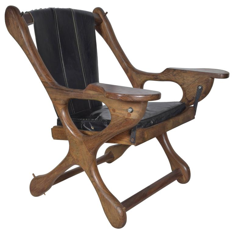Don Shoemaker Leather Sling Chair At 1stdibs