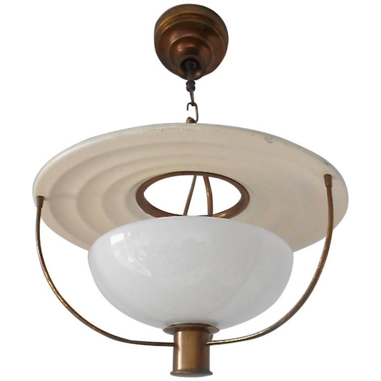 Very Rare Alfred MüLler Ceiling Lamp
