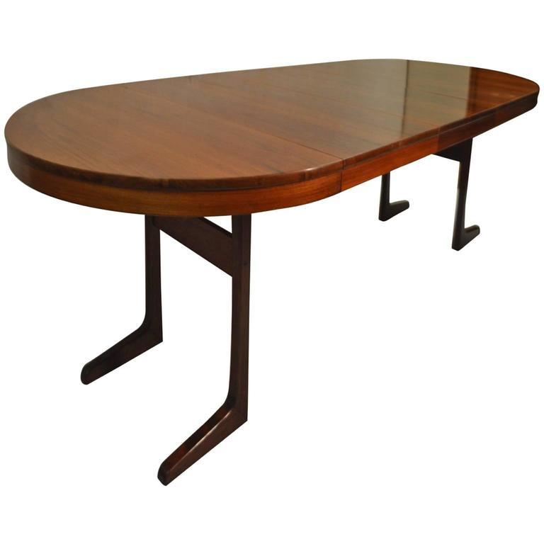 Danish Rosewood Extending Dining Table by J Ingvard