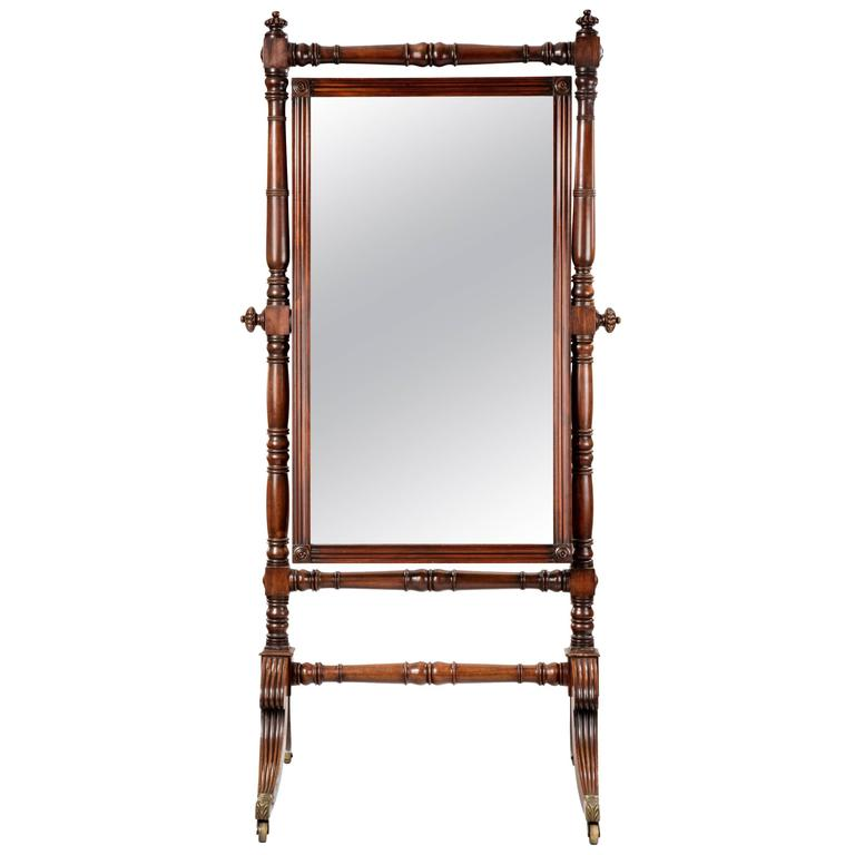 Regency cheval mirror for sale at 1stdibs for Floor length mirror for sale