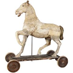 18th Century French Horse Pull Toy