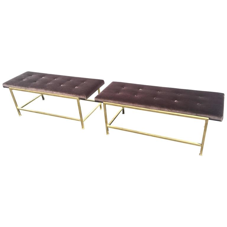 Edward Wormley Brass Benches for Dunbar For Sale at 1stdibs