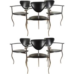 Set of Six Arrben Stiletto Armchairs