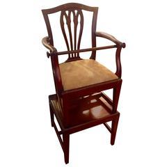 George III Mahogany Child's High Chair