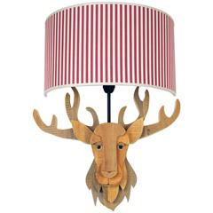Reindeer Wood Lamp by Michelangeli, Italy