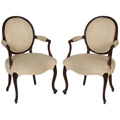 Pair of Edwardian Armchairs