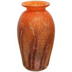 'Ikora' Glass Vase by WMF, circa 1930