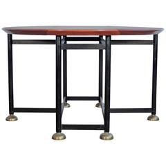 Architectural Italian 20th Century Folding Dining Table