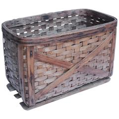Large Antique French Basket