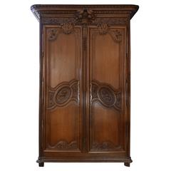 Magnificent 19th Century French Wedding Armoire