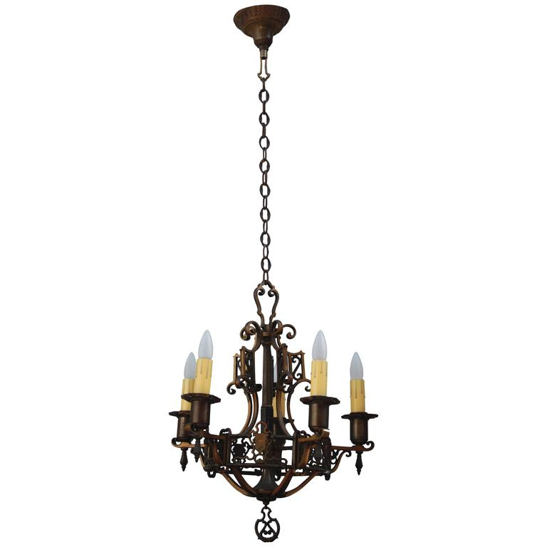 classic bronze spanish revival chandelier for sale at 1stdibs