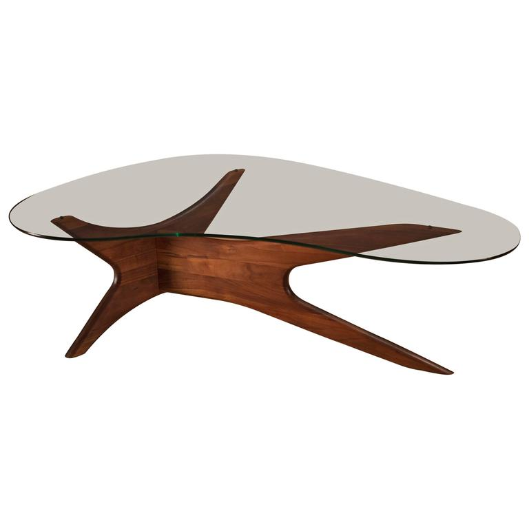 adrian pearsall biomorphic walnut coffee table at 1stdibs
