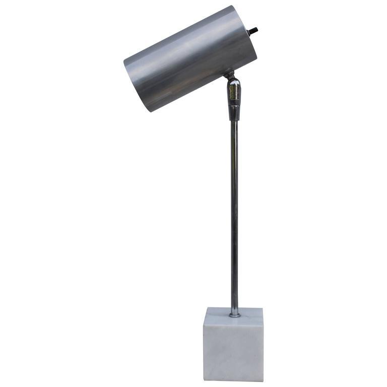 Robert Sonneman for Kovacs Marble Base Table Lamp