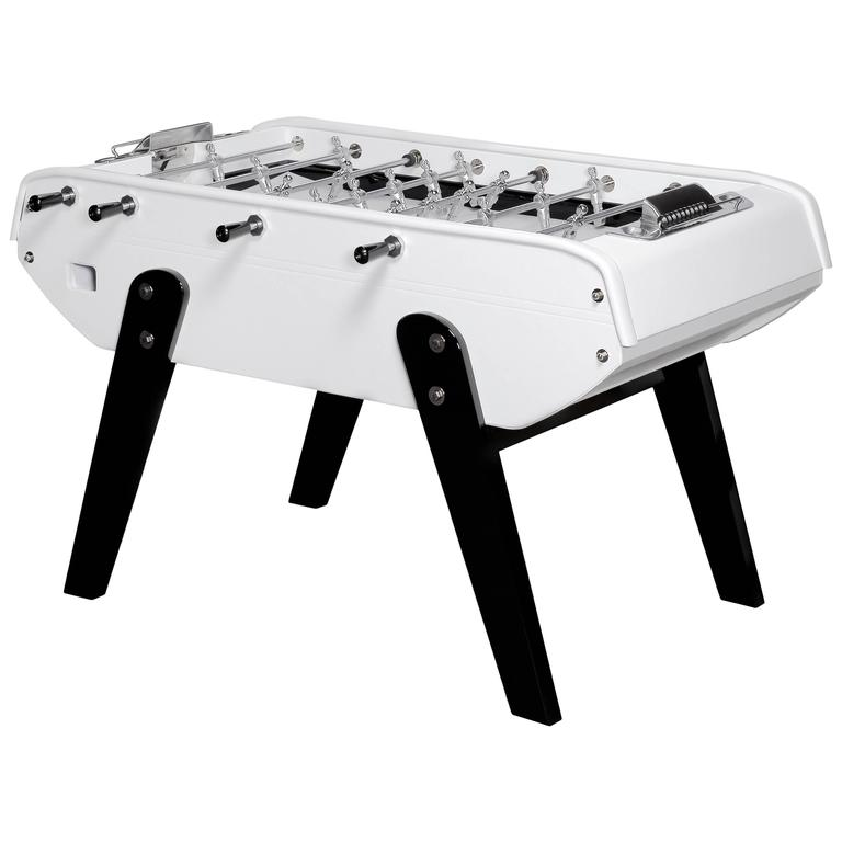 Domeau & Pérès and Bonzini Foosball Table in White Leather