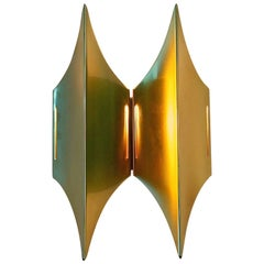 Gothic II Brass Wall Sconces by Lyfa, Denmark