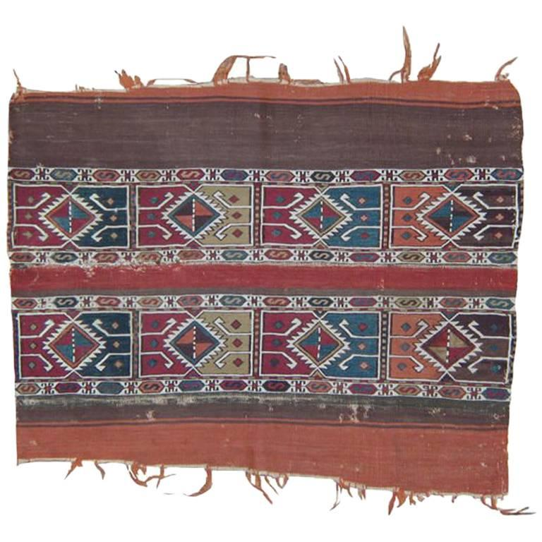 "Antique ""Grain Sack"" 'Open' Rug"