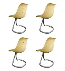 """Jacques Point, Set of Four """"Liane"""" Chairs"""