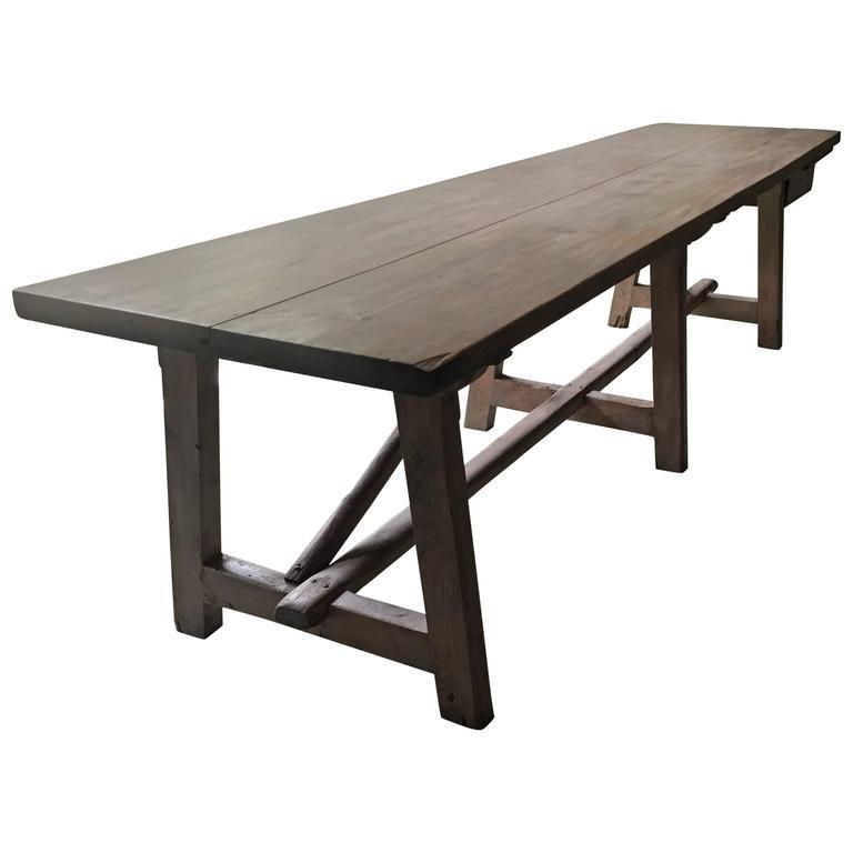 Spanish 19th Century Table, Pine