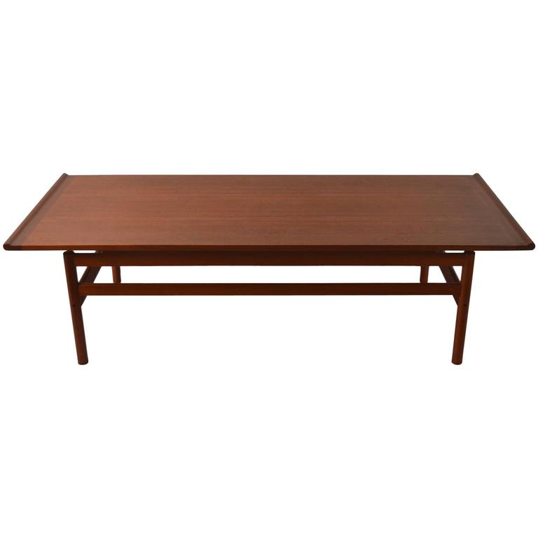 Large architectural teak coffee table by brode blindheim for Architectural coffee table