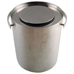 Arne Jacobsen for Stelton Ice Bucket Made of Stainless Steel, 1970s-1980s