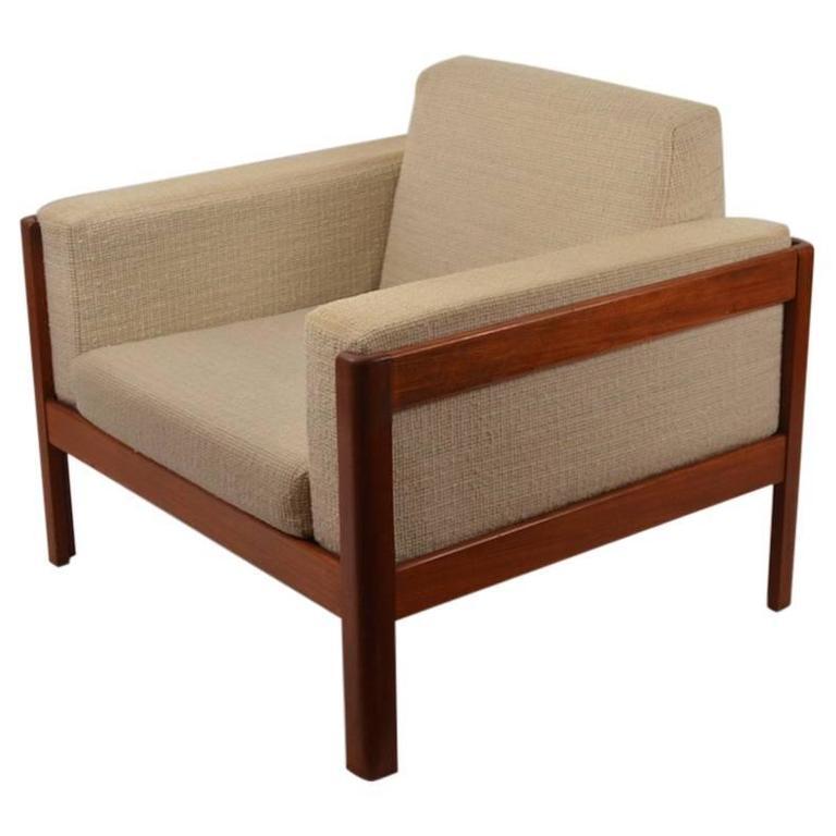 Danish Modern Teak Cube Chair by Westnofa