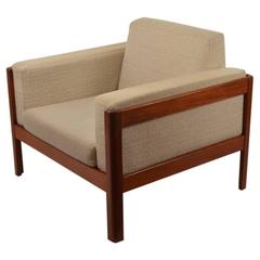Danish Modern Teak Cube Chair by Westnofa