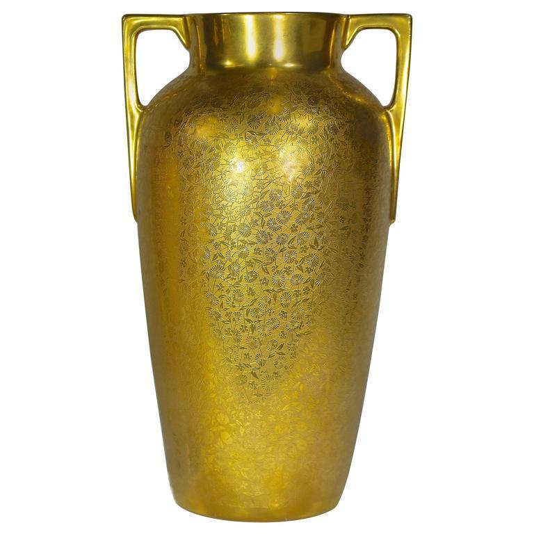 vintage vase 24 karat gold encrusted floral brocade. Black Bedroom Furniture Sets. Home Design Ideas