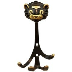 Lion Wall Hook by Walter Bosse