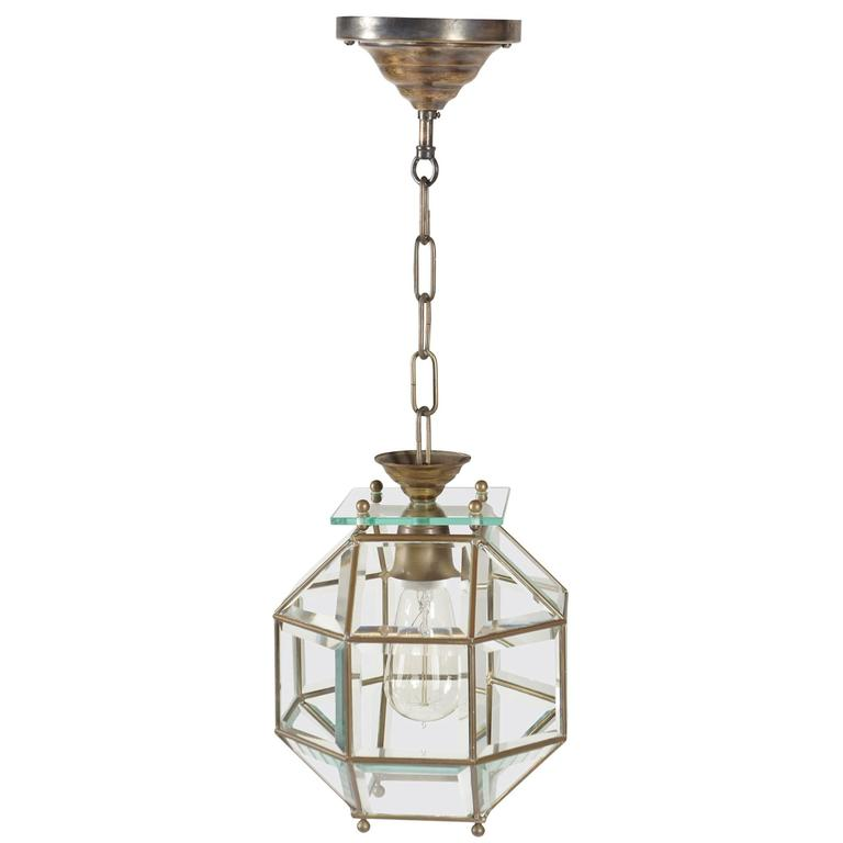 Leaded and Beveled Glass Pendant Light, Adolf Loos, circa 1905