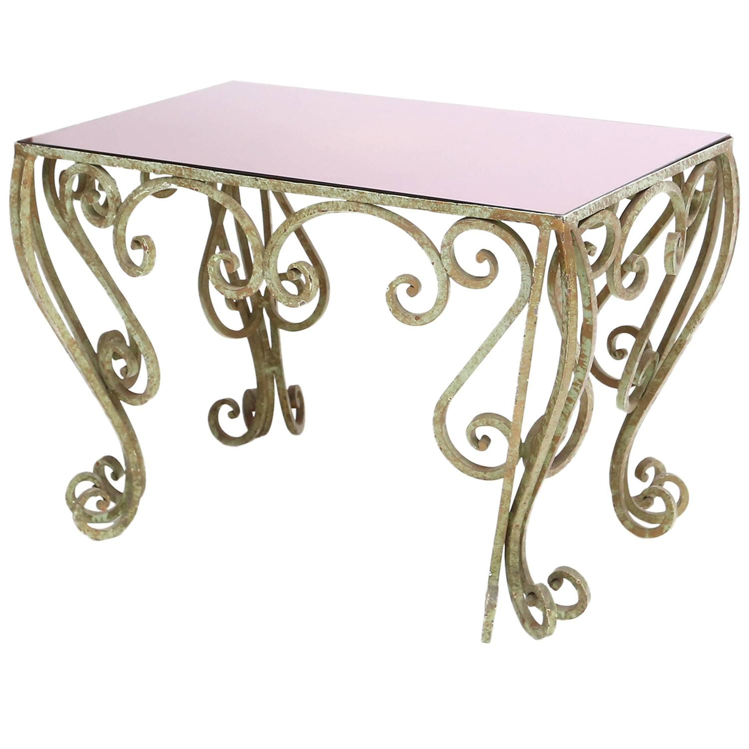wrought iron coffee table for sale at 1stdibs