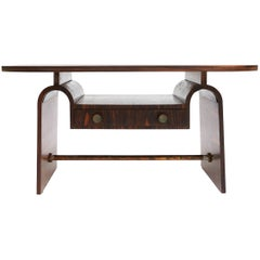 Modernist macassar Art Deco coffee table for Metz & Co