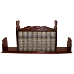 Regency Mahogany Book Carrier / Bookstand
