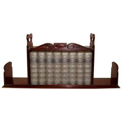 Regency Mahogany Book Carrier / Bookstand