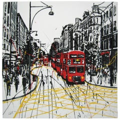 Paul Kenton Bus Stop Blues on Canvas Signed Limited Edition