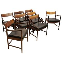 Set of Eight Dining Chairs in Rosewood by McIntosh