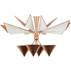 Copper Flush Mount Ceiling Light