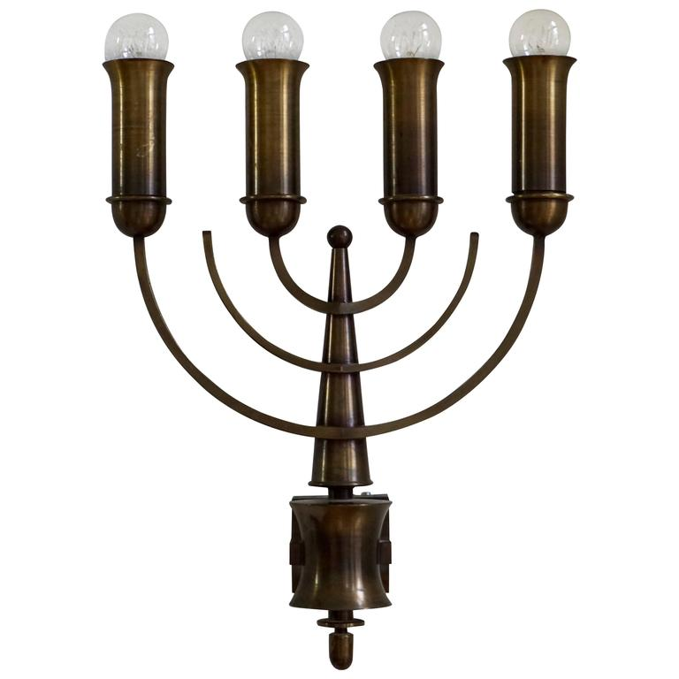 Italian Made Wall Sconces : Pair of Italian Bronze Wall Sconces For Sale at 1stdibs