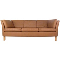 Vintage Danish Modern Leather Sofa