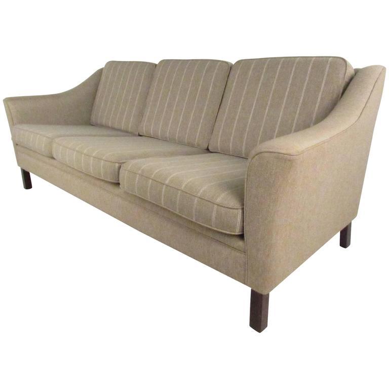 Vintage Mid Century Modern Sofa: Upholstered Vintage Danish Modern Sofa, Mid-Century Living