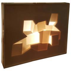 Three-Dimensional Acrylic Table Sculpture, Pop Modernist, Sam Russo, circa 1970
