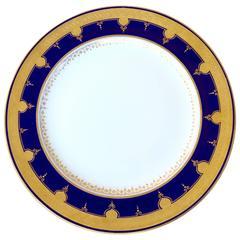 Set of Cobalt Blue Dinner Plates
