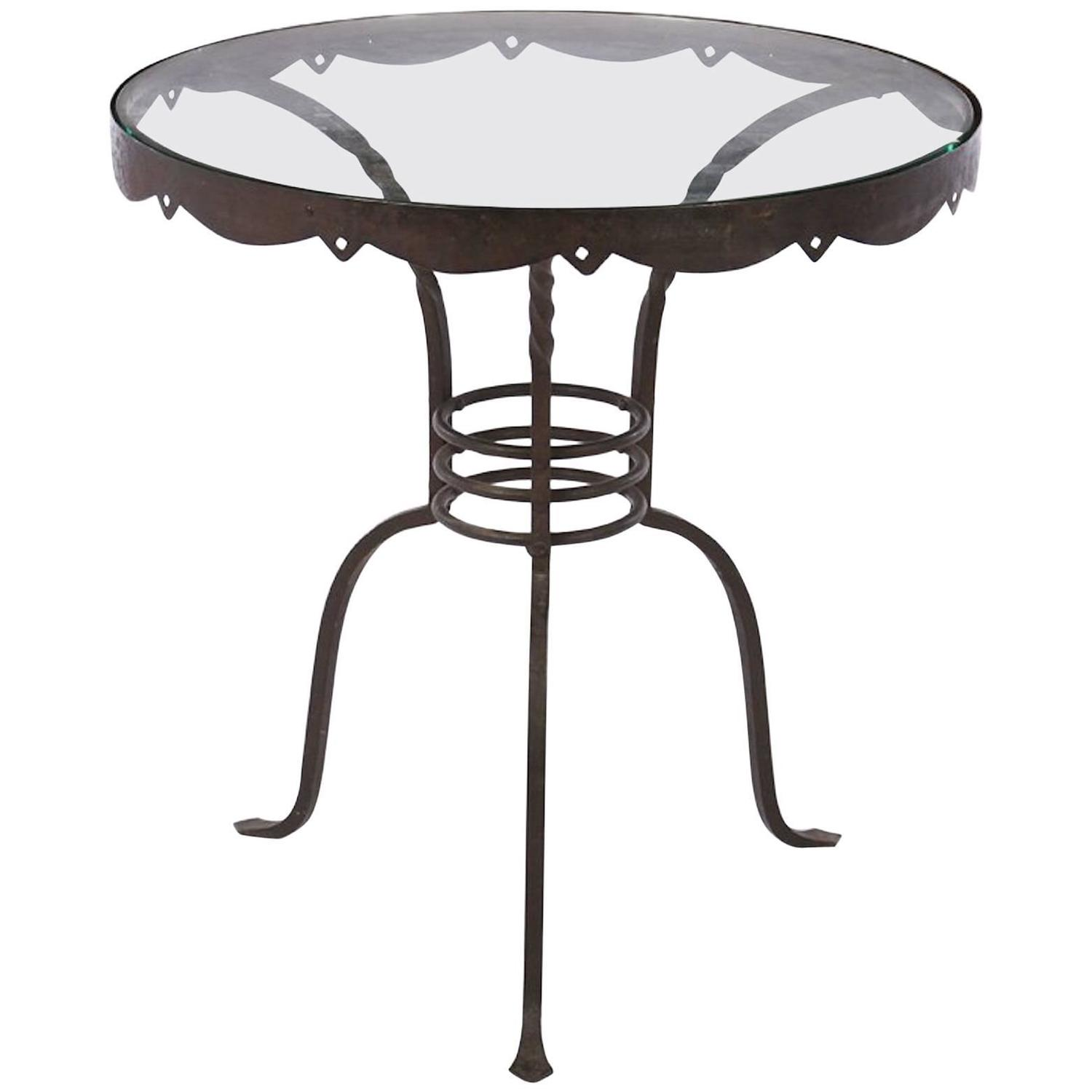 Iron Side Table ~ Early th century wrought iron side table at stdibs