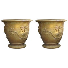 Pair of French Anduze Planter Pots from Provence