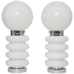 Mazzega Style Pair of Table Lamps
